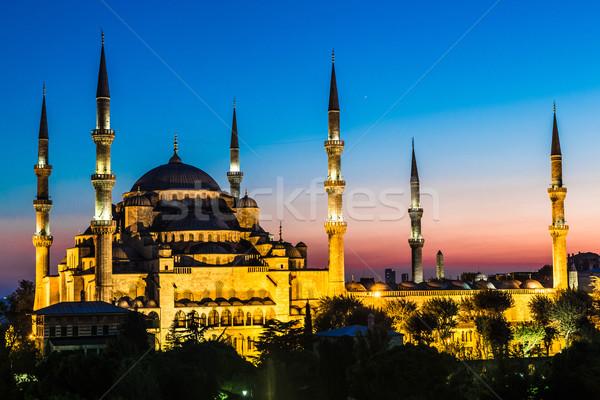 синий мечети Стамбуле Турция мнение рано Сток-фото © bloodua
