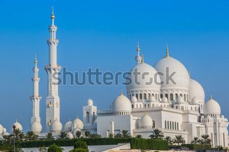 Meczet Bliskim Wschodzie Emiraty Arabskie Abu Dabi miasta niebo Zdjęcia stock © bloodua