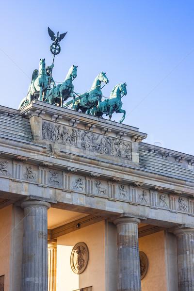 Бранденбургские ворота Берлин Германия ночь дороги вид сбоку Сток-фото © bloodua