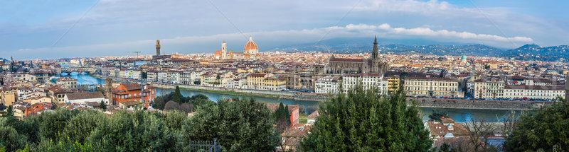 A beautiful panorama of Florence, Tuscany, Italy. Stock photo © bloodua