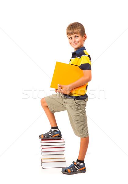Oktatás siker grafikon vissza az iskolába sikeres iskolás fiú Stock fotó © bloodua