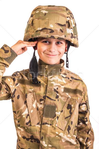 Saluting soldier. Stock photo © bloodua