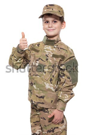 Young soldier with rifle Stock photo © bloodua