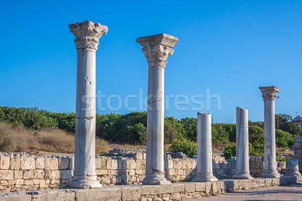 руин древних греческий колония стены закат Сток-фото © bloodua