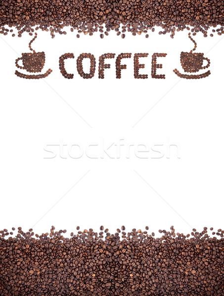 Bruin koffiebonen geïsoleerd witte koffie Stockfoto © bloodua