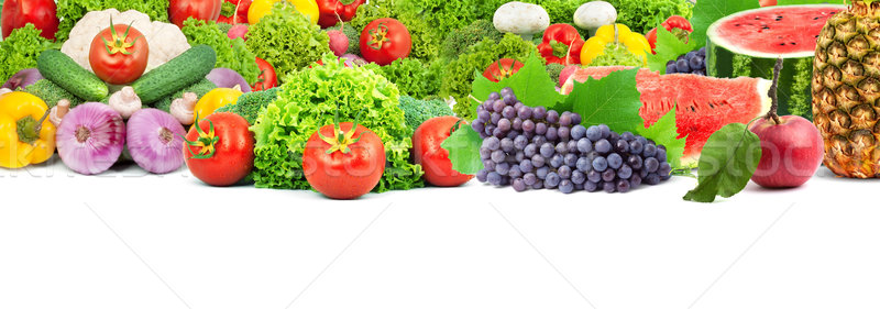 Colorful healthy fresh fruits and vegetables Stock photo © bloodua