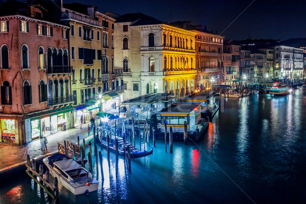 Grand Canal in Venice. NIght Stock photo © bloodua