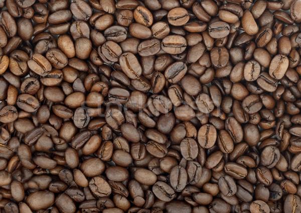Pörkölt kávébab aromás barna csokoládé háttér Stock fotó © bloodua
