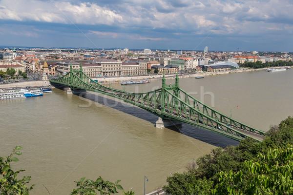 свободы моста Будапешт планов город улице Сток-фото © bloodua