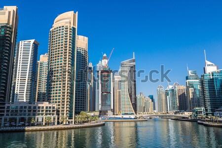 Dubaï marina cityscape 13 centre-ville jour Photo stock © bloodua