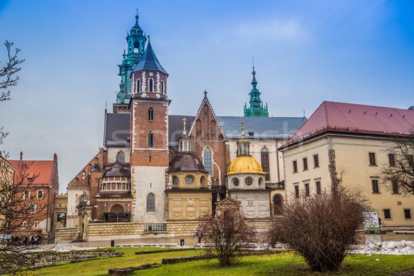Polen kathedraal complex krakow kasteel hemel Stockfoto © bloodua