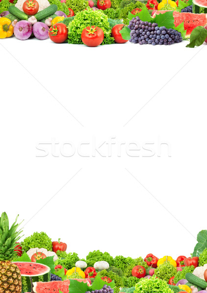 Stock photo: Colorful healthy fresh fruits and vegetables