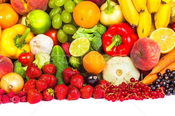 グループ 新鮮な野菜 孤立した 白 葉 フルーツ ストックフォト © bloodua