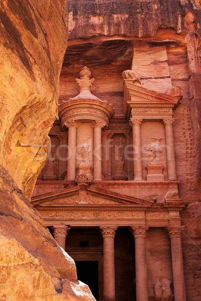 Foto stock: Jordânia · antigo · cidade · arte · vermelho · arquitetura