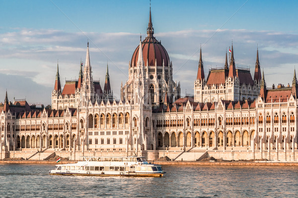 цепь моста парламент Будапешт Венгрия Сток-фото © bloodua