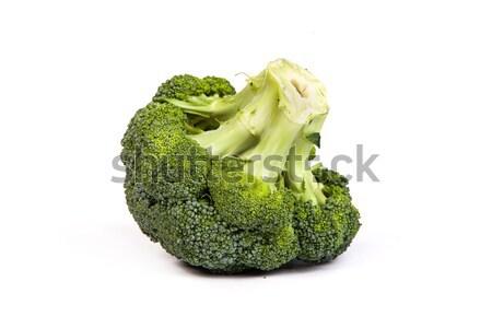 Single broccoli floret isolated on white Stock photo © bloodua