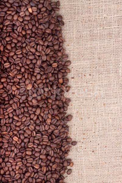 Kahverengi kahve çekirdekleri atış stüdyo çikolata Stok fotoğraf © bloodua