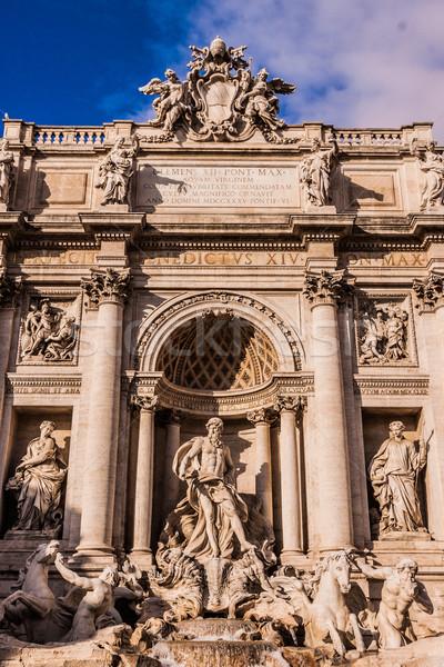 Trevi Fountain - famous landmark in Rome Stock photo © bloodua