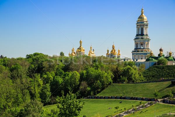 Ortodoxo monasterio río árbol construcción jardín Foto stock © bloodua
