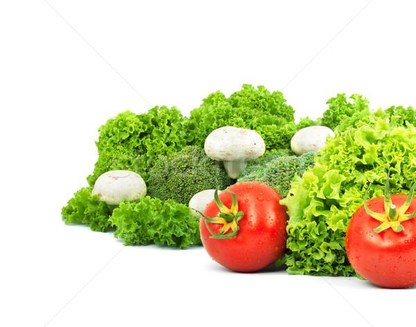 新鮮な野菜 孤立した 白 食品 葉 フルーツ ストックフォト © bloodua