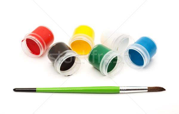 Paints with a paintbrush Stock photo © bloodua