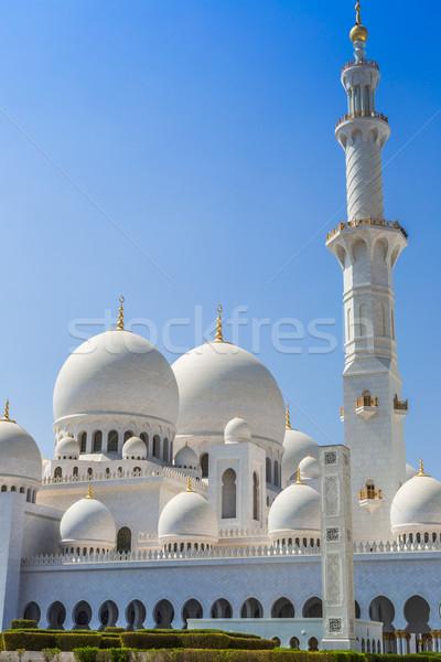 Mecset Abu Dhabi város egység Közel-Kelet Egyesült Arab Emírségek Stock fotó © bloodua