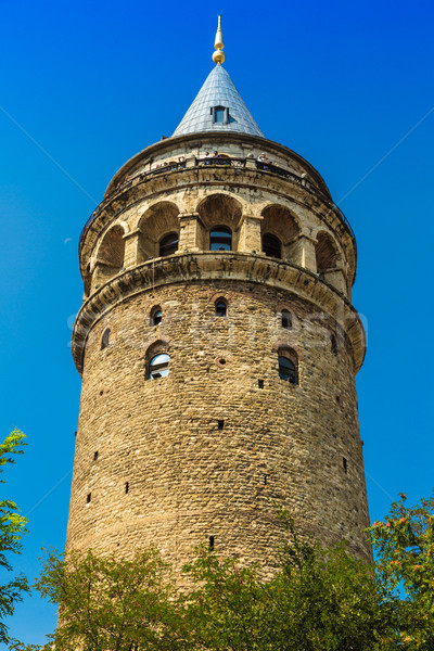 Galata Tower over the Golden Horn in Istanbul, Turkey Stock photo © bloodua