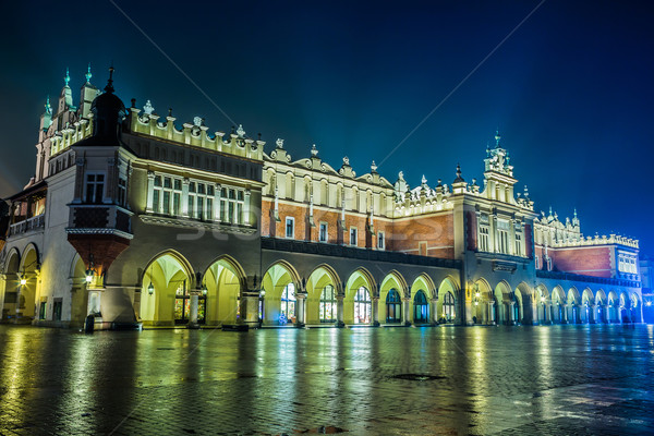 Poland, Krakow. Market Square at night. Stock photo © bloodua
