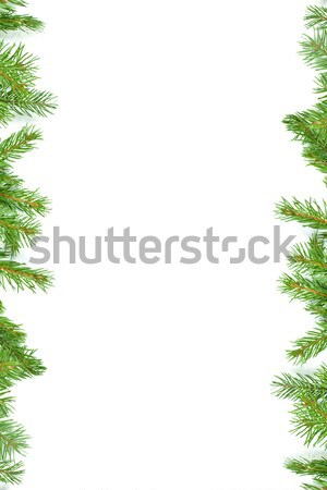 Christmas framework with snow isolated on white background Stock photo © bloodua