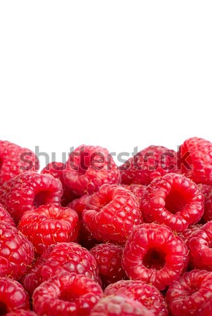 Ripe raspberries fruit background. Іsolated on white Stock photo © bloodua
