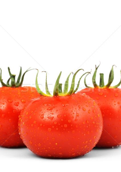 Three red tomatos Stock photo © bloodua