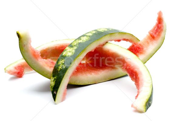 Maradék görögdinnye nagy piros izolált fehér Stock fotó © bloodua