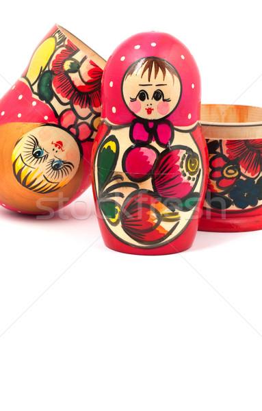 русский кукол изолированный белый семьи лице Сток-фото © bloodua