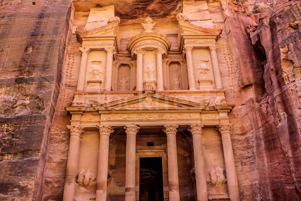 Tesouraria Jordânia antigo cidade dia montanha Foto stock © bloodua
