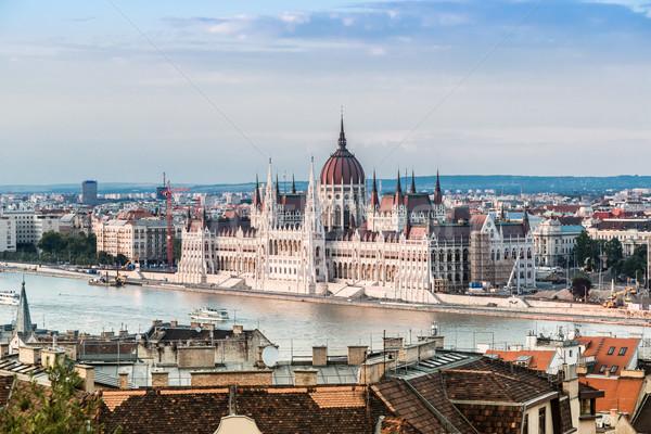 Lánc híd magyar parlament Budapest Magyarország Stock fotó © bloodua