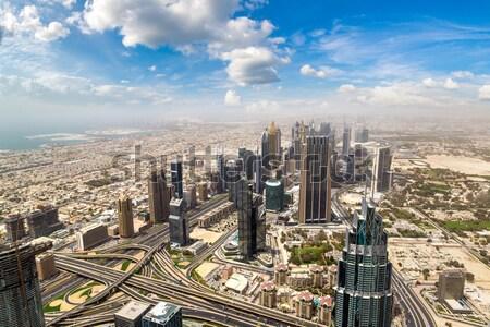 Dubai belváros Egyesült Arab Emírségek építészet légi 13 Stock fotó © bloodua