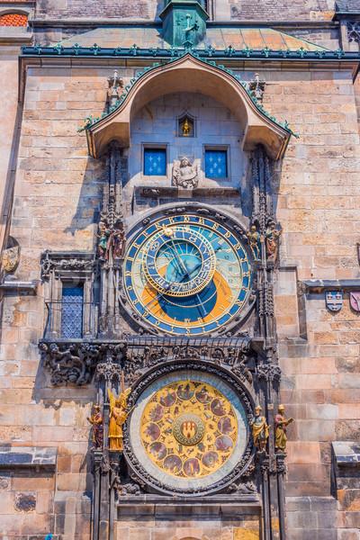 Astronomico clock Praga Repubblica Ceca città Europa Foto d'archivio © bloodua