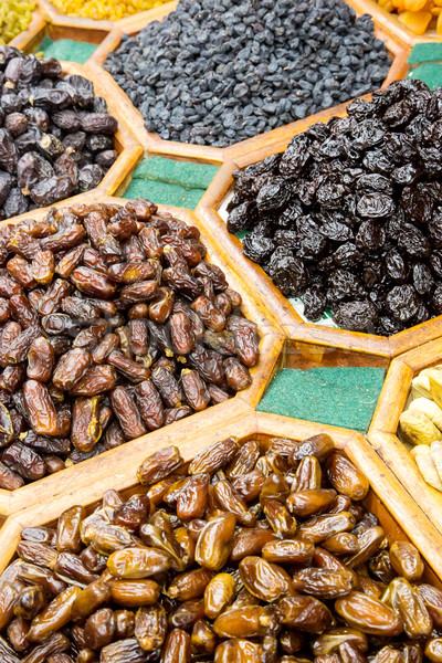 Dried fruit and nuts mix in Dubai market Stock photo © bloodua