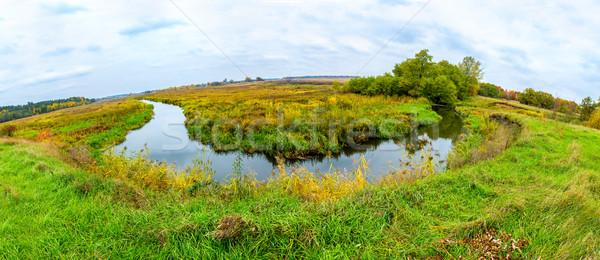 Paisagem floresta lago outono panorama colorido Foto stock © bloodua