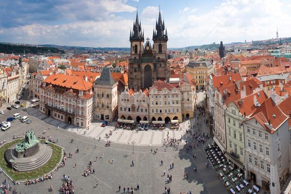 Сток-фото: Прага · город · Панорама · Чешская · республика · старый · город · квадратный