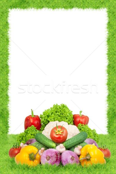 свежие овощи изолированный белый фрукты кадр цвета Сток-фото © bloodua