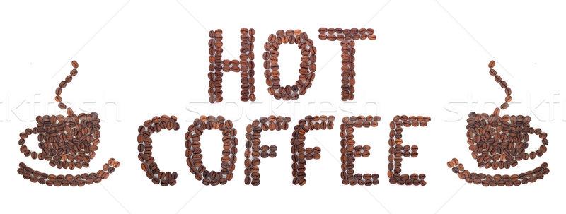 コーヒー 言葉 豆 白 チョコレート エネルギー ストックフォト © bloodua