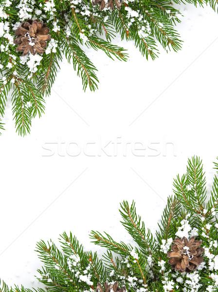 Noel kar yalıtılmış beyaz mutlu Stok fotoğraf © bloodua