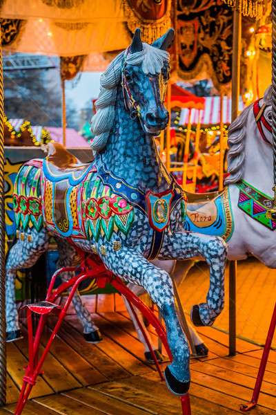 Stock photo: Carousel. Horses on a carnival Merry Go Round.