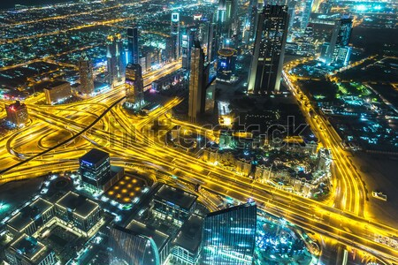 Dubai centrum Emiraty Arabskie architektury City Lights Zdjęcia stock © bloodua