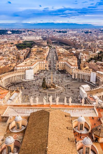 Рим Италия известный святой квадратный Ватикан Сток-фото © bloodua