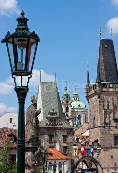 Ponte Praga inverno cidade neve igreja Foto stock © bloodua