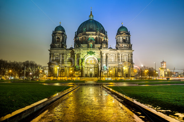 the Berliner Dom in the night in Berlin Germany Stock photo © bloodua