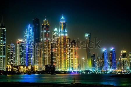 Dubai marina Cityscape 13 modern binalar Stok fotoğraf © bloodua