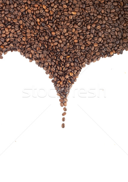 Kahverengi kahve çekirdekleri yalıtılmış beyaz çikolata Stok fotoğraf © bloodua